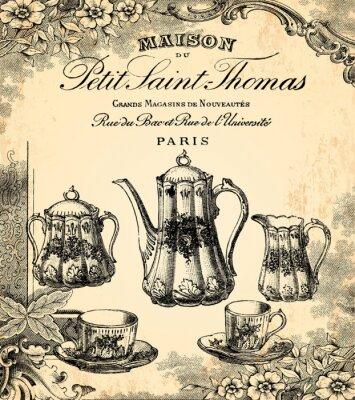 Fototapeta Le salon de thé