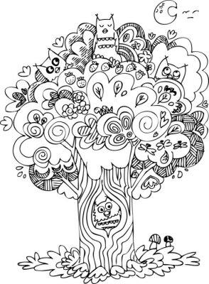 Fototapeta Legrační strom s roztomilé vytí