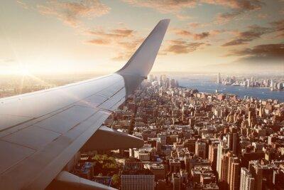 Fototapeta Let nad New York City