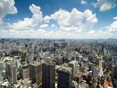 Fototapeta Letecký pohled na Anhangabau Valley, Sao Paulo, Brazílie