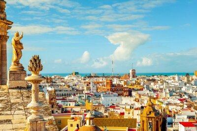 Fototapeta Letecký pohled na Cádiz, Španělsko