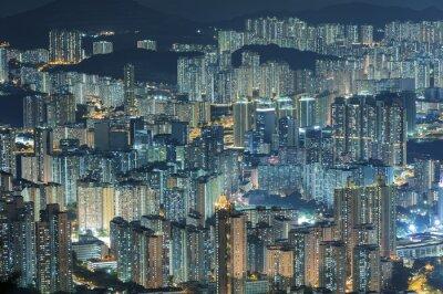 Fototapeta Letecký pohled na město Hong Kong