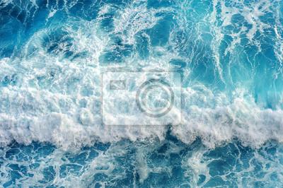 Fototapeta Letecký pohled na vlnu oceánu.