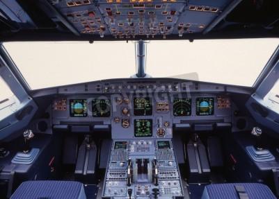 Fototapeta Letoun kokpitu moderní tryskové dopravní letadlo