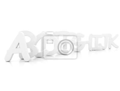 Fototapeta letters 3d rendered