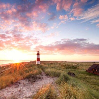 Fototapeta Leuchtturm Sylt