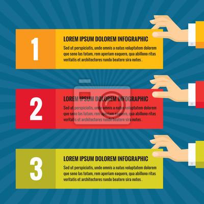 Fototapeta Lidské ruce s informačními bloky - infographic obchodní koncept  - vektorové ilustrace pojetí v plochém 2b39811fa2