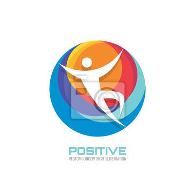 Fototapeta Lidský v barevném kruhu - kreativní logo znamení pro sportovní  klub c9f6985206