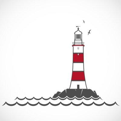 Fototapeta Lighthouse icon.