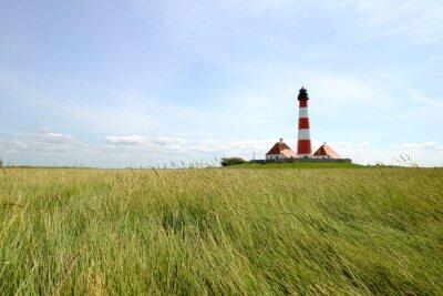 Fototapeta Lighthouse Westerhever - Severní moře