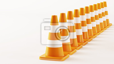 Line from Traffic Cones
