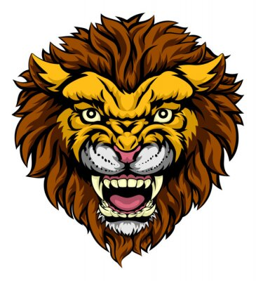 Fototapeta Lion maskot