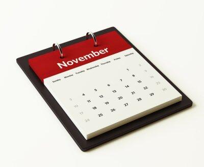 Listopadu Kalendář Plánování
