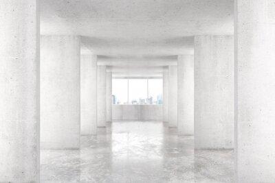 Fototapeta Loft styl tunel s mnoha stěnami ve světle prázdném domě s b