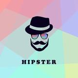 59f96a67043 Logo s mužem ve stylovém klobouku s knírkem a barevných skel