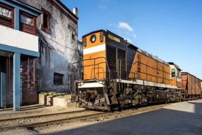 Fototapeta Lokomotiva na nádraží v Camagüey Kuby