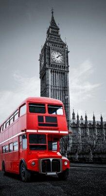 Fototapeta London Bus und Big Ben