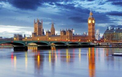 Fototapeta Londýn - Big Ben a Houses of Parliament, Velká Británie