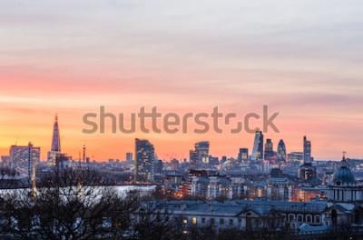 Fototapeta Londýn panorama při západu slunce, Anglie, Velká Británie