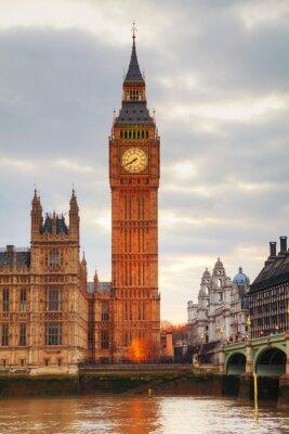 Fototapeta Londýn s hodinovou věží a Houses of Parliament