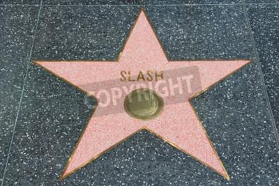 Fototapeta LOS ANGELES, USA - 5. dubna 2014: Slash (Guns N 'Roses kytarista) hvězda na slavné chodníku slávy v Hollywoodu. Hollywoodský chodník slávy obsahuje více než 2500 hvězd s jmény napsanými celebrity.