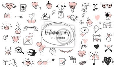 Love Doodles Rucne Kreslene Ilustrace A Sbirky Citatu Fototapeta
