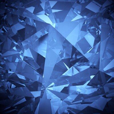 Fototapeta Luxusní modrý krystal aspekt pozadí