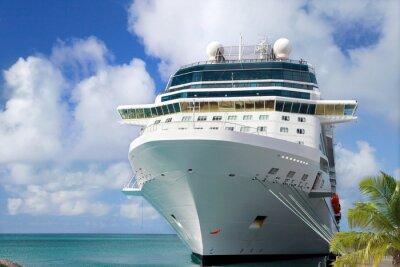 Fototapeta Luxusní výletní loď v přístavu