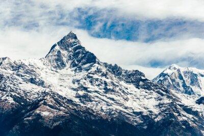 Fototapeta Machhapuchhre (Fish Tail) v oblasti Annapurna, Nepál. Film emulace filtr aplikován.