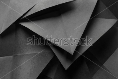 Fototapeta Macro image of paper folded in geometric shapes, three-dimensional effect, abstract background