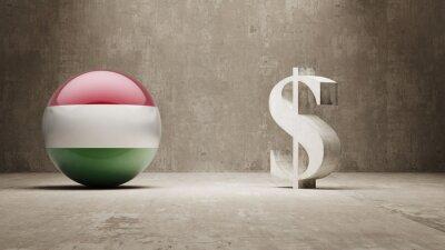 Maďarsko. Peníze Sign koncept.