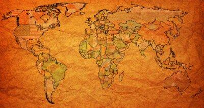 Fototapeta Maďarsko území na mapě světa