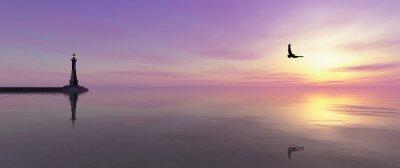 Fototapeta maják na pobřeží