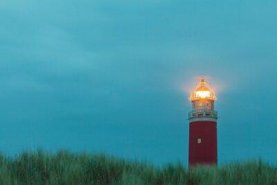 Fototapeta Maják v nizozemském ostrově Texel