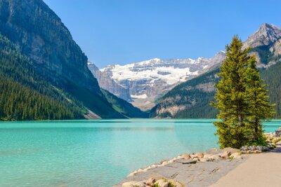 Fototapeta Majestátní horské jezero v Kanadě. Louise Lake zobrazit v Banff, Alberta, Kanada. Skalnaté hory.