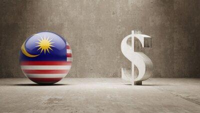 Malajsii. Peníze Sign koncept.