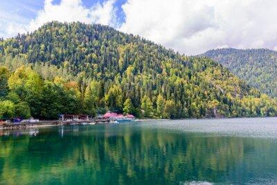 Fototapeta Malebné alpské Rica, Abcházie.