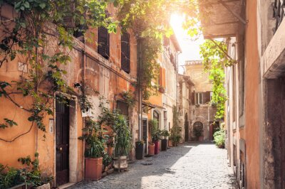 Fototapeta Malebné ulici v Římě, Itálie