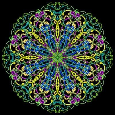 Fototapeta mandala Farbe