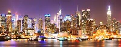 Fototapeta Manhattan panorama v noci.