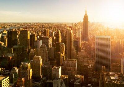 Fototapeta Manhattan Skyline bei Západ slunce v New Yorku