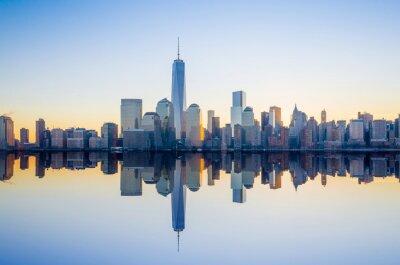 Fototapeta Manhattan Skyline s One World Trade Center budova na tw