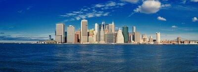 Fototapeta Manhattan za slunečného dne.