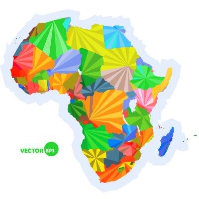 Fototapeta mapa Afriky. Mapa koncept se zeměmi Colorful mapa Afriky, abstraktní pozadí design infographic, mapa Afriky v polygonální origami vektorové ilustrace loga