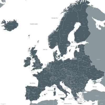Fototapeta Mapa Evropy vektor