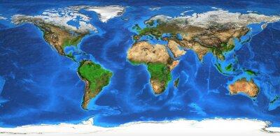 Fototapeta mapa světa s vysokým rozlišením a tvary