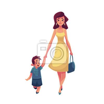 máma a dcera spolu chodí