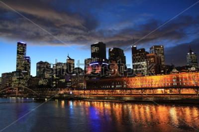 Fototapeta Melbourne noční pohled Austrálie