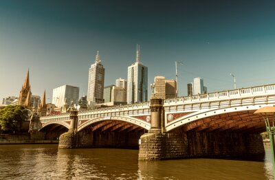 Fototapeta Melbourne, Victoria - Austrálie. Krásné panorama města