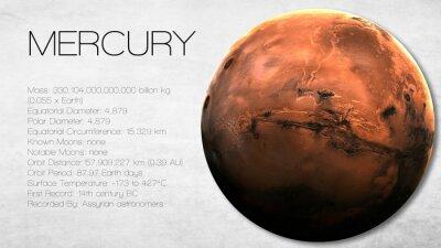 Fototapeta Mercury - Vysoké rozlišení Infographic představuje jeden ze sluneční